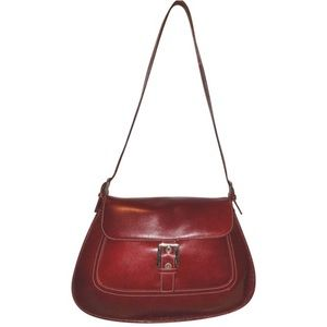 A. Giannetti Leather Burgundy Handbag